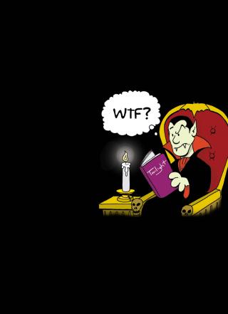 Dracula Reading Twilight - Obrázkek zdarma pro Nokia X1-01