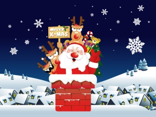 Funny Santa Background for Android, iPhone and iPad