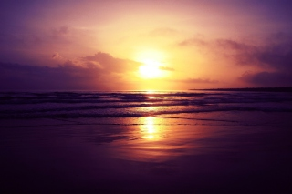 Beach Sunset Wallpaper for Android, iPhone and iPad