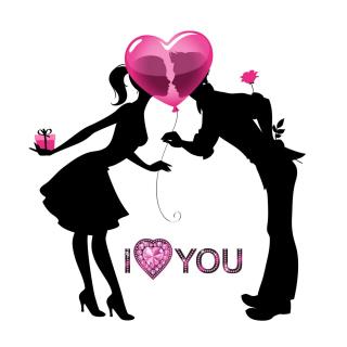 I Love You - Obrázkek zdarma pro 1024x1024