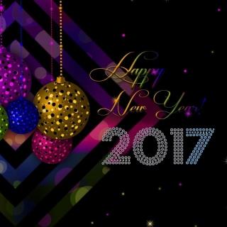 2017 Happy New Year Card - Obrázkek zdarma pro iPad