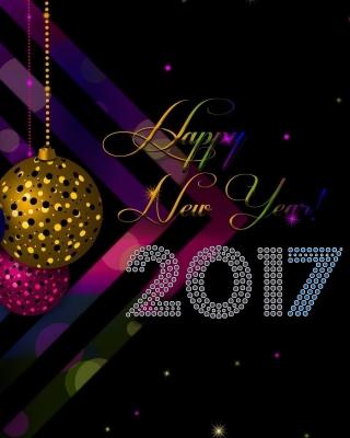2017 Happy New Year Card - Obrázkek zdarma pro Nokia Asha 202