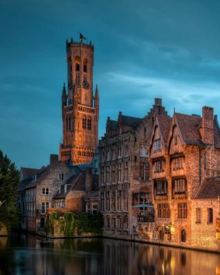 Bruges city on canal - Obrázkek zdarma pro Nokia 206 Asha