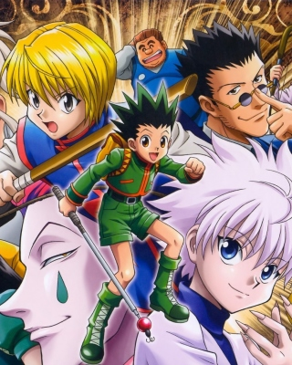 Hunter x Hunter with Gon Freecss, Killua Zoldyck, Kurapika - Obrázkek zdarma pro iPhone 4S