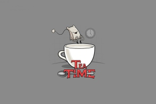 Tea Time Wallpaper for Android, iPhone and iPad