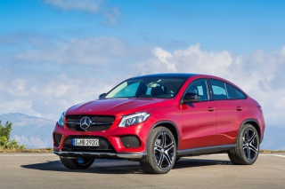 2016 Mercedes Benz GLE 450 AMG Red Background for Android, iPhone and iPad