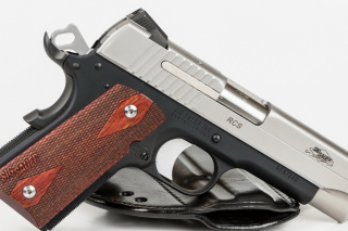 Sig Sauer 1911 Pistol Background for Android, iPhone and iPad