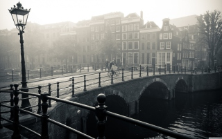 Misty Amsterdam Background for Android, iPhone and iPad