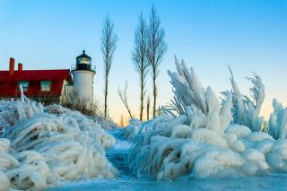 Winter Frozen Lighthouses - Obrázkek zdarma pro Samsung Galaxy S3