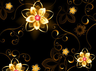 Golden Flowers Picture for Android, iPhone and iPad