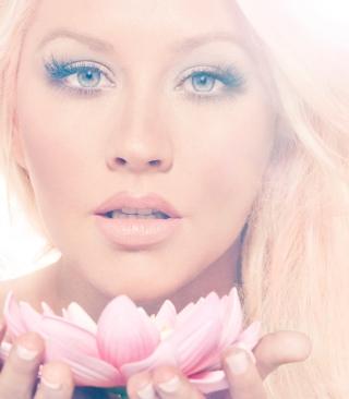 Christina Aguilera With Lotus - Obrázkek zdarma pro iPhone 6 Plus