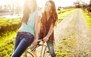 Happy Smiles Of Teen Girls Wallpaper for Android, iPhone and iPad