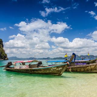 Boats in Thailand Phi Phi - Obrázkek zdarma pro 128x128
