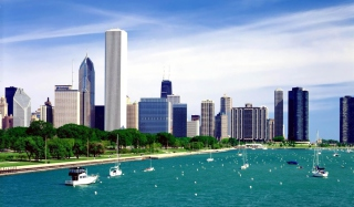 Michigan Lake Chicago Picture for Android, iPhone and iPad