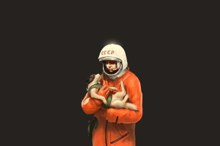 Yuri Gagarin Background for Android, iPhone and iPad