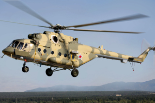 Mil Mi 17 Russian Helicopter Background for Android, iPhone and iPad