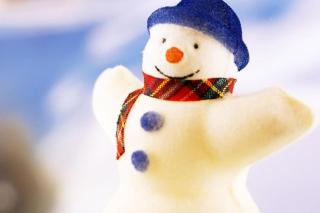 Happy Snowman - Obrázkek zdarma pro 1400x1050