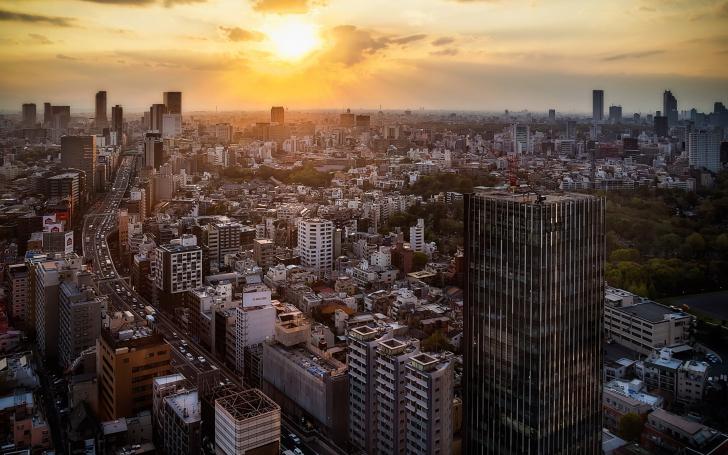 Sunset Over Tokyo wallpaper