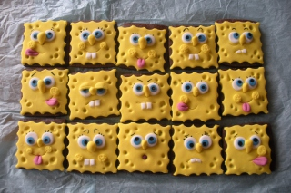 Spongebop Squarepants Cookies Background for Android, iPhone and iPad