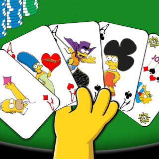 Simpsons Cards - Obrázkek zdarma pro 128x128