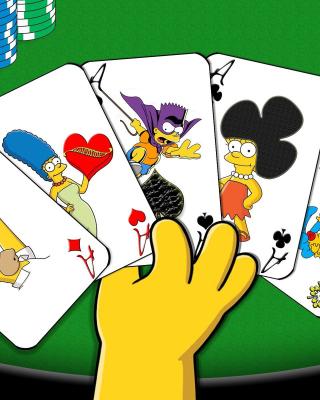 Simpsons Cards - Obrázkek zdarma pro Nokia X7