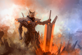 Hi-tech Warrior Background for Android, iPhone and iPad