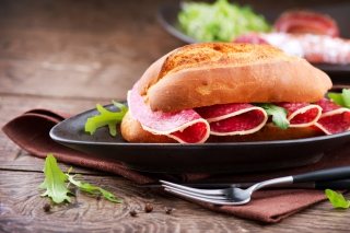 Tasty Sandwich Wallpaper for Android, iPhone and iPad