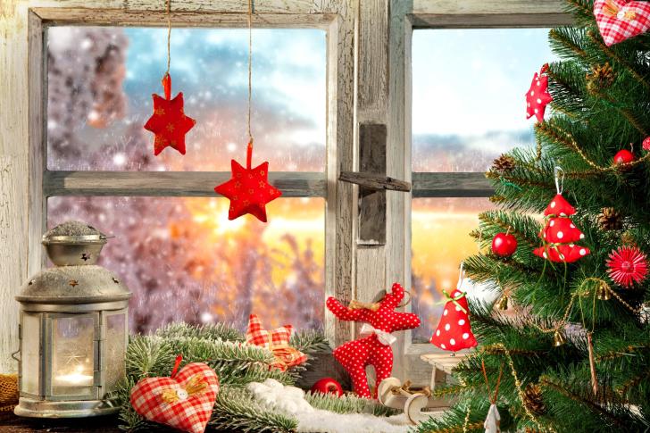 Christmas Window Home Decor wallpaper