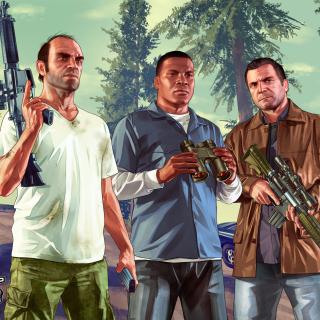Grand Theft Auto V Gangsters - Obrázkek zdarma pro 1024x1024