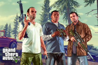Grand Theft Auto V Gangsters Wallpaper for Android, iPhone and iPad