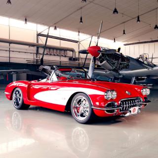 Pogea Racing Chevrolet Corvette 1959 - Obrázkek zdarma pro 320x320