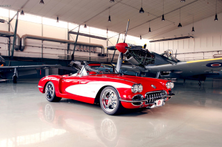 Pogea Racing Chevrolet Corvette 1959 Wallpaper for Android, iPhone and iPad