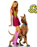 Screenshot №1 pro téma Sarah Michelle Gellar with Dog 128x160