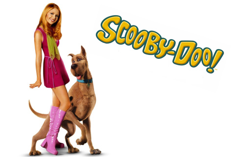 Screenshot №1 pro téma Sarah Michelle Gellar with Dog 480x320