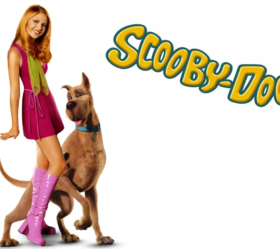 Screenshot №1 pro téma Sarah Michelle Gellar with Dog 960x854