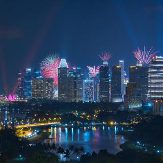 Singapore Fireworks - Obrázkek zdarma pro 128x128