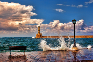 Lighthouse In Greece Wallpaper for Android, iPhone and iPad