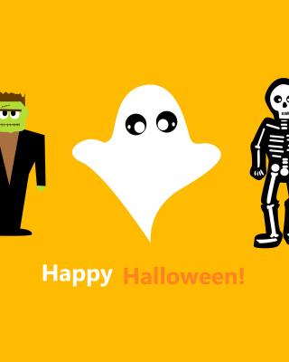 Halloween Costumes Skeleton and Zombie - Obrázkek zdarma pro 128x160