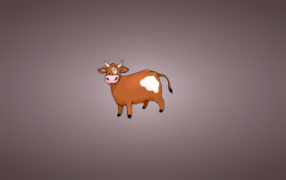 Funny Cow Illustration Background for Android, iPhone and iPad