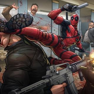 Deadpool Art - Obrázkek zdarma pro 2048x2048