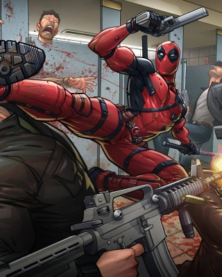 Deadpool Art - Obrázkek zdarma pro 640x1136