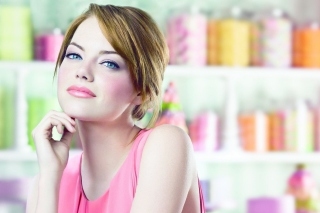 Emma Stone In Pink Dress Wallpaper for Android, iPhone and iPad