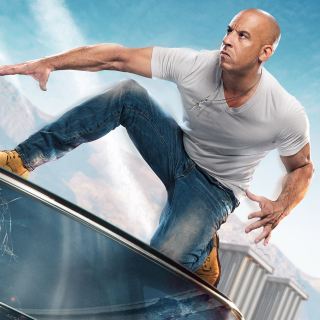 Fast & Furious Supercharged Poster with Vin Diesel - Obrázkek zdarma pro 1024x1024