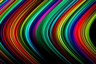 Rainbow Lines Background for Android, iPhone and iPad