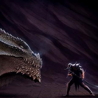 Serpent and Warrior - Obrázkek zdarma pro 128x128