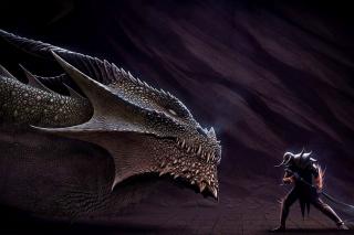 Serpent and Warrior - Obrázkek zdarma pro 800x480