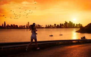 Running Is Freedom Picture for Android, iPhone and iPad