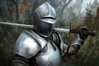 Medieval knight in armor Background for Android, iPhone and iPad