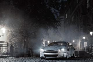 White Aston Martin At Night - Obrázkek zdarma pro Android 2560x1600