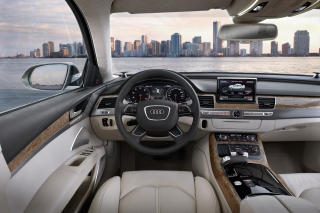 Free Audi A8 Interior Picture for Android, iPhone and iPad